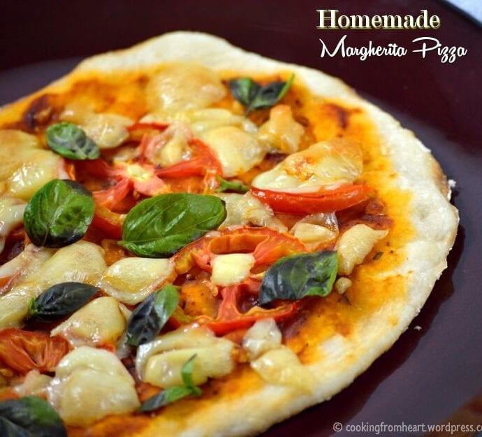 Homemade Margherita Pizza | Thin Crust Pizza