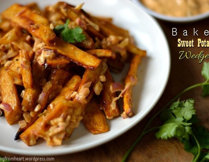 Baked Sweet Potato Wedges | Easy Snack Recipes