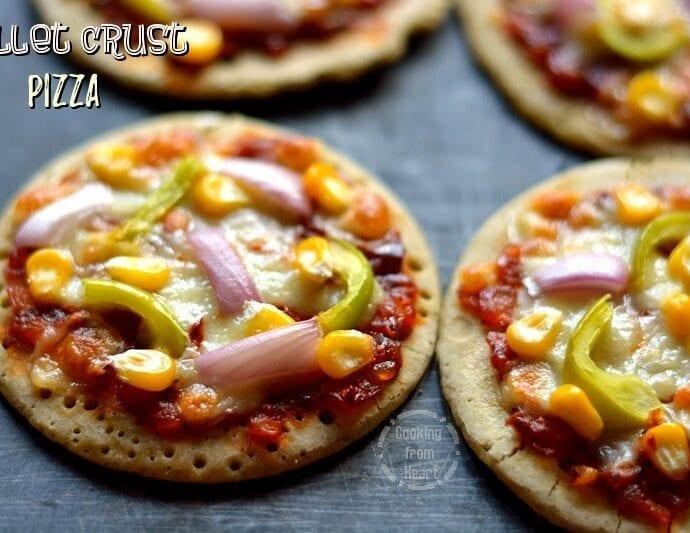 Millet Crust Pizza   Healthy Gluten Free Veggie Pizza
