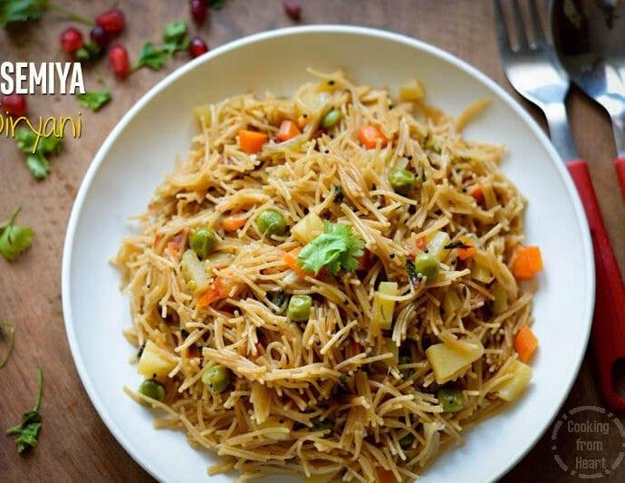 Semiya Pulao | Vermicelli Biryani | Easy Dinner Ideas