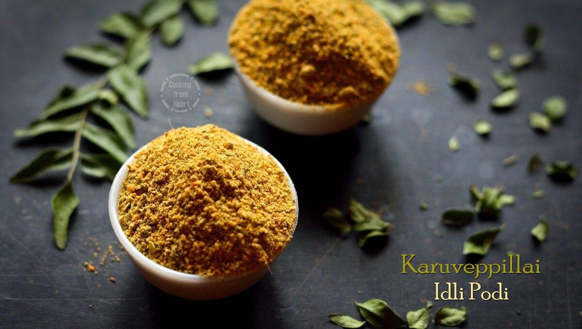 Karuveppillai Idli Podi | Curry Leaves Chutney Powder