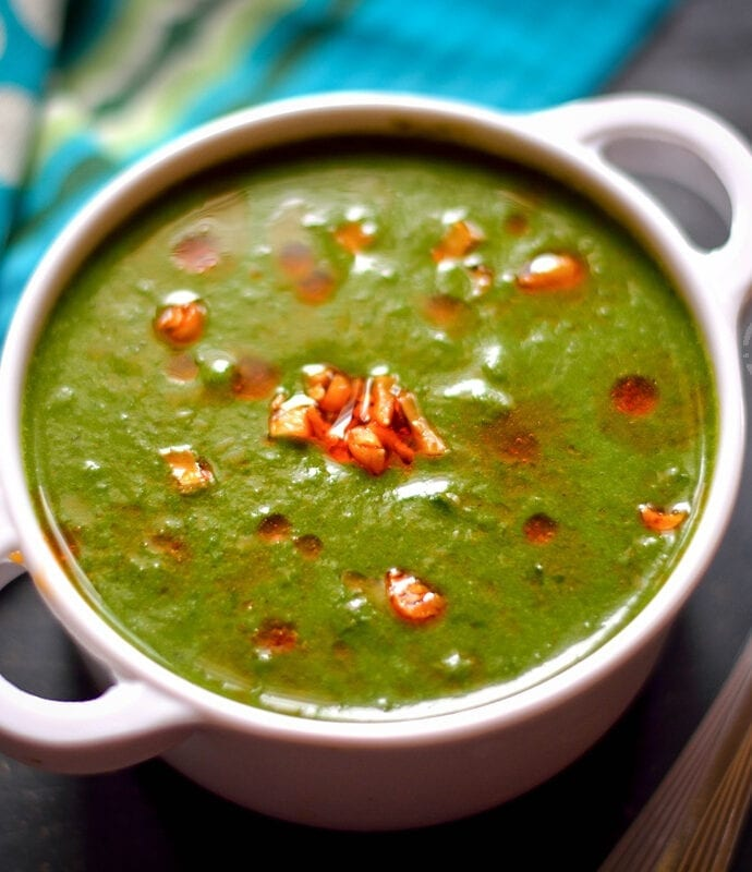 Palak Shorba | Indian Style Spinach Soup