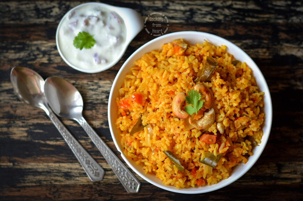 Pressure Cooker Tomato Rice | Easy One Pot Tomato Rice