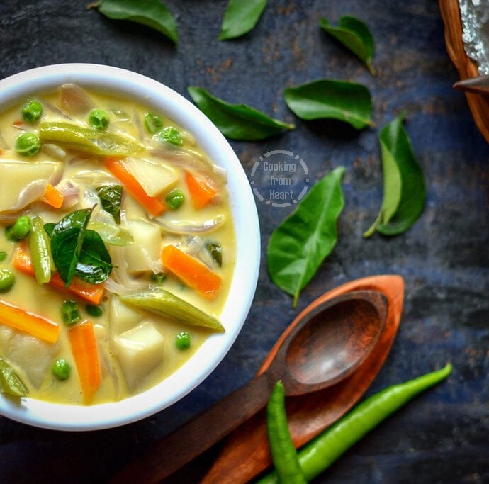 Vegetable Stew   Kerala Style Veg Stew