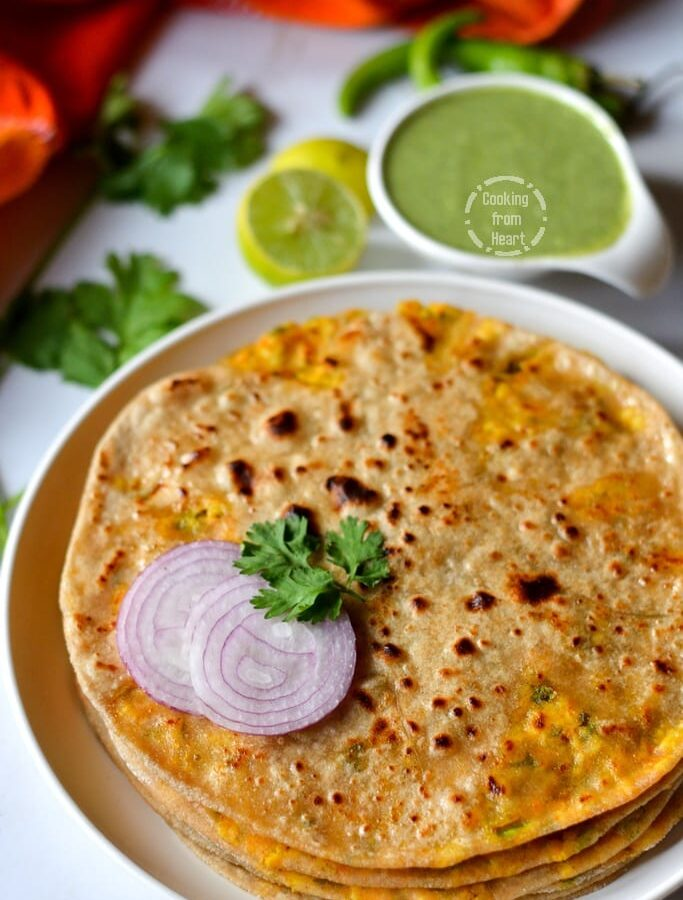 Paneer Paratha   Cottage Cheese Stuffed Indian Bread
