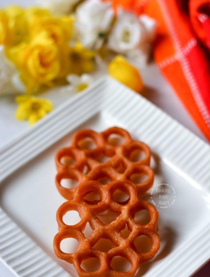 Eggless Rose Cookies | Eggless Achu Murukku