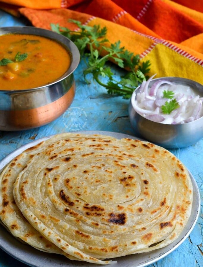 Pheni Paratha | Flaky Layered Parotta