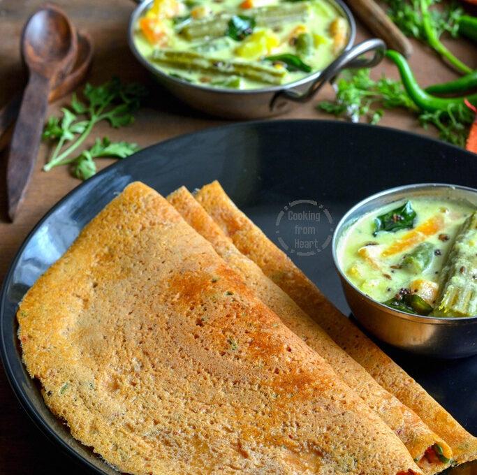 Godhumai Rava Adai | Broken Wheat Rava Adai