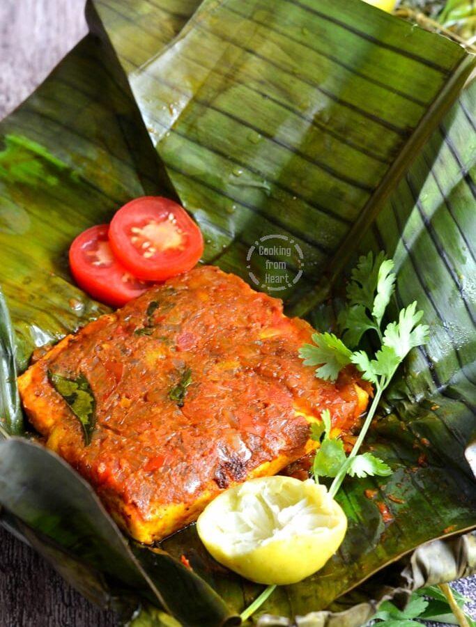 Paneer Pollichathu   Kerala Style Paneer Pollichathu