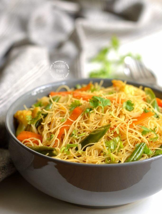 Singapore Noodles | Veg Singapore Mei Fun