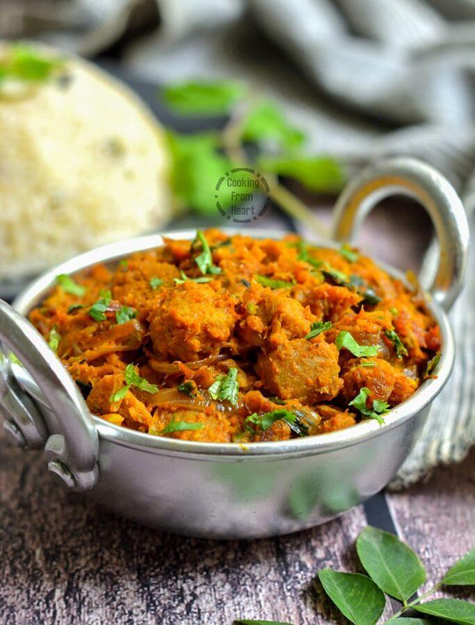 Soya Chunks Chukka | Soya Sukka Curry
