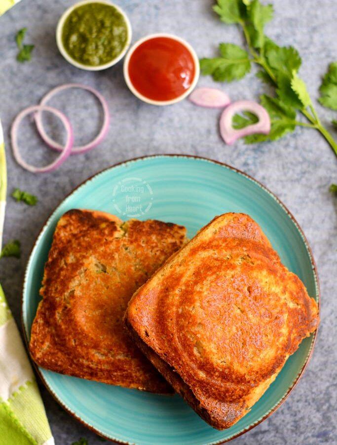 Bombay Masala Toast | Masala Toast Sandwich