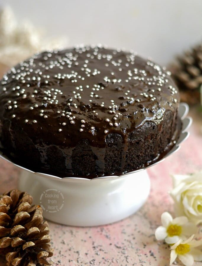 Chocolate Depression Cake | Crazy Chocolate Cake | Stove Top Eggless Chocolate Cake