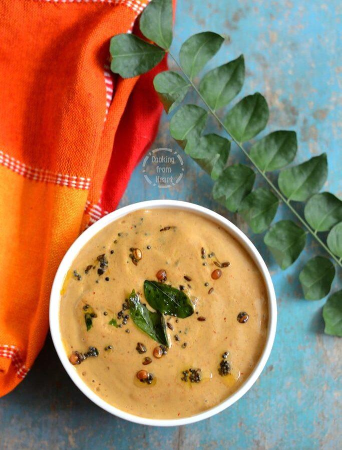 Roasted Peanut Chutney   Andhra Palli Chutney   Verusenaga Pachadi